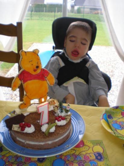 Devant mon gâteau!
