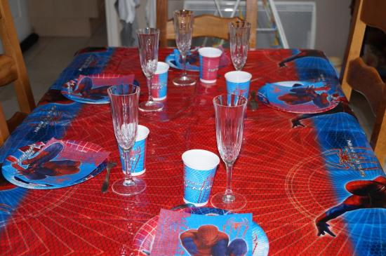 Ma table d'anniversaire.