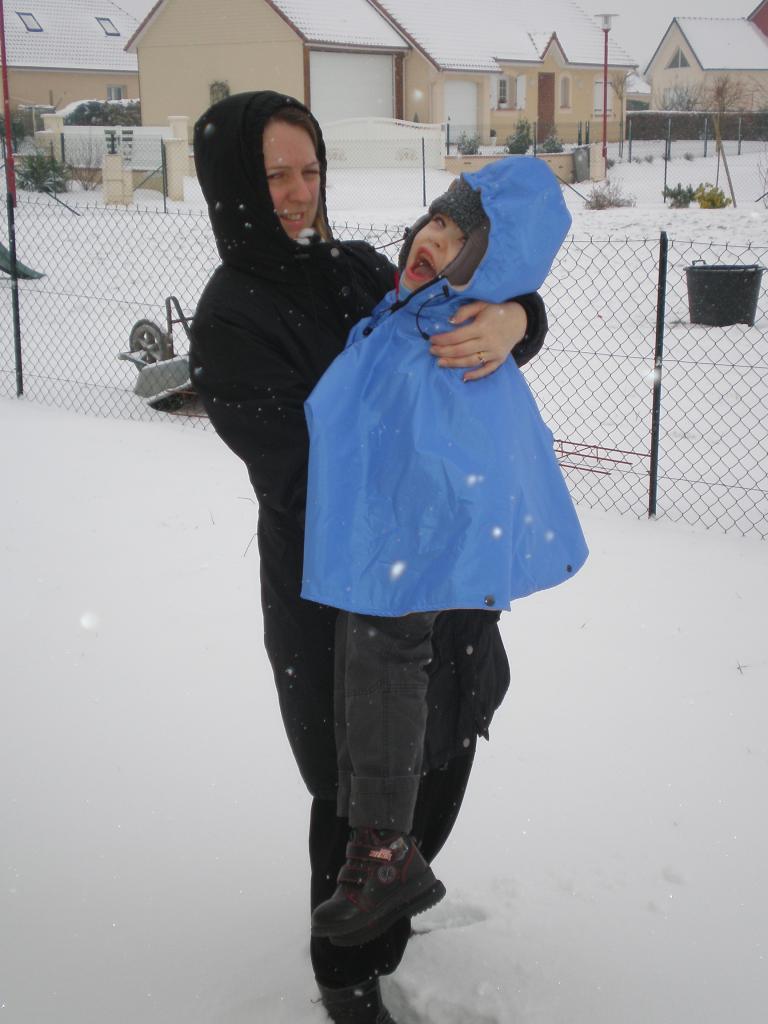 Dans la neige!