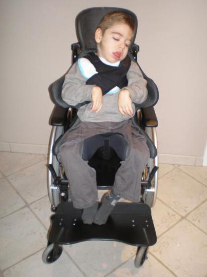 Première fois dans mon fauteuil roulant!