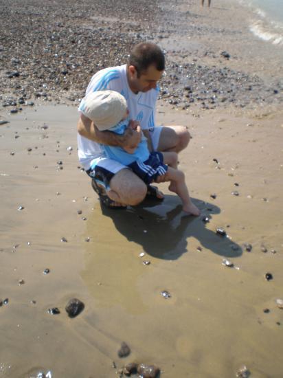 Dylan avec son papa.