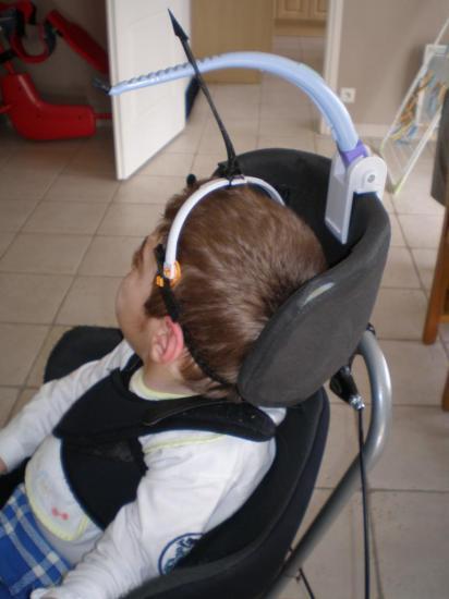 Le headpod pour le maintien de la tête.